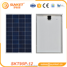 Low minimum 95watt 100 watt solar panel price with free sample