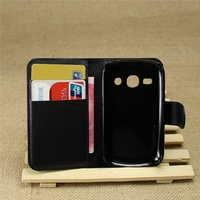 Hot selling leather case for Samsung Galaxy Fame S6810 Leather Mobile phone flip cover case for Samsung Galaxy Fame S6810