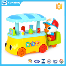 Ice cream car musical light kids play house toy