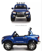 China supplier 12V double seat Kids Ride On Cars with the parent control remote licensed Ford Ranger