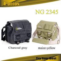 NATIONAL GEOGRAPHIC NG2345 Professional DSLR Canvas Camera Bag/Case Travel Photo Bag Single Shoulder Shoulder Bag for Canon Niko