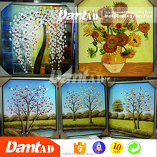 DMT AD High quality yes framed canvas new designs flowers of glass oil painting