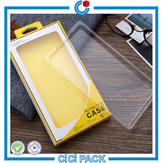 Offset printing coated paper electronics packaging box for mobile phone case wholesale