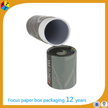 sturdy small packaging paper cylinder tube box