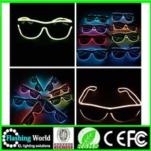 OEM design Interesting Vedio music actived fluorescent diffraction glasses party glasses