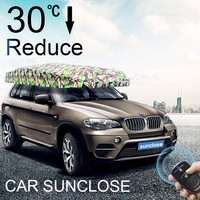Car Sunclose Automatic open umbrella sun screen block fast collect car windshield snow cover with remote control