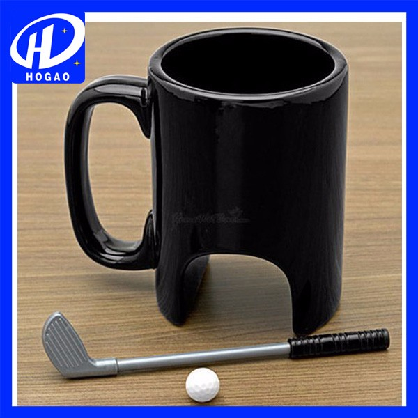 Ceramic Golf Ball Mugs With Pen and Ball
