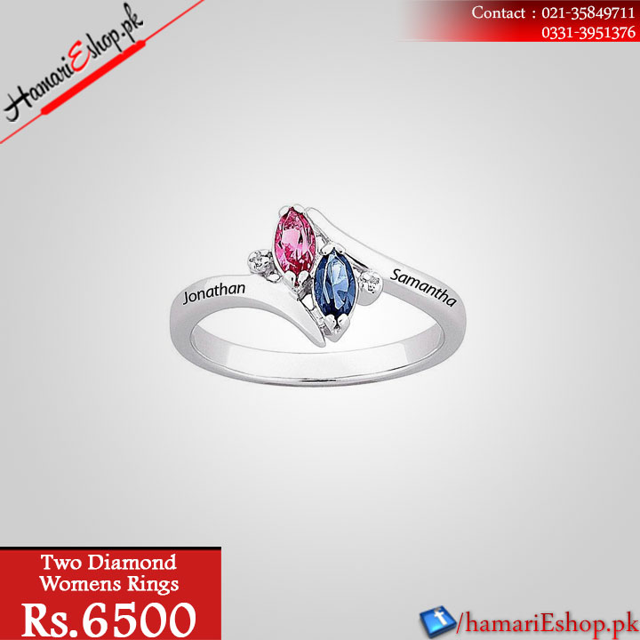 Two Diamond Womens Rings