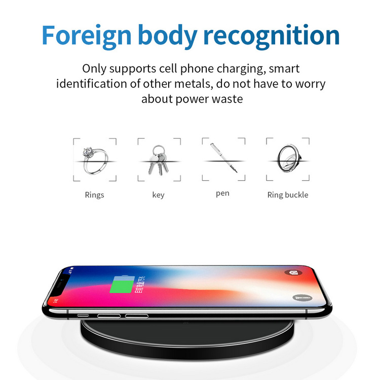 10W Ultra Slim GY68 Fast QI Wireless Charger Pad Metal High Quality For IPHONE And for Android
