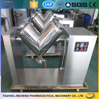 Price for top quality CE certified semi auto stainless 100l v type mixer+86-18921700867