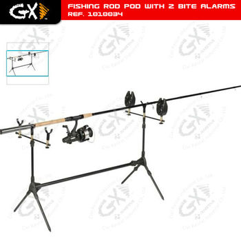 Fishing Rod Pod with 2 Bite Alarms