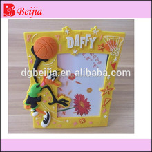 Custom rubber pvc cheap small cartoon picture photo frames