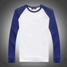 Bulk in Stock,Sublimation Blank color long sleeve T shirt,Cotton ,low Price,small MOQ,S-XXXL size