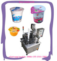 automatic rotary juice sauce/jelly /yogurt cup filling and sealing machine for sale