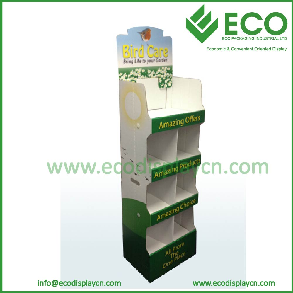 4 Tier Cardboard Advertising Display Stands for Napkin Display Stand POP Display Stand
