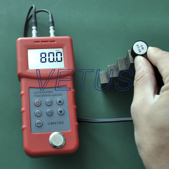 UM6700 ultrasonic <strong>Thickness</strong> meter china vetus factory price 4.5 digits LCD with EL backlight.
