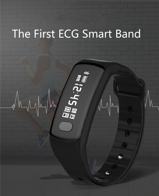 Waterproof IP67 heart rate smart blood pressure 3D sensor bracelet, Shenzhen Smart Bracelet with SDK Smart Movement Health Band