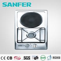 Stainless steel mini 2 burner electric hotplate burner/mini gas cooker