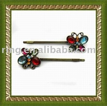 2011 popular hair ornament with colorful flower /hair stick