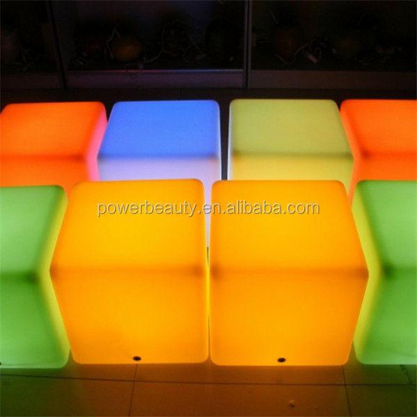 mr.idea glowing led light cube furniture