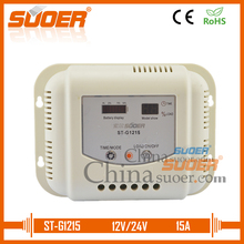 Suoer 15A 12V 24V PWM Solar Panel Charge Controller