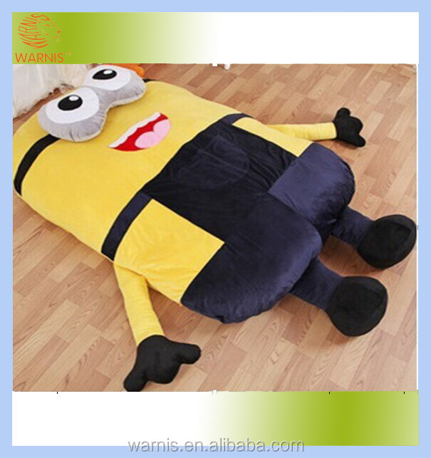 Tatami mat bed / <strong>Plush</strong> stuffed despicable me minion sleeping bed floor leisure mattress pad