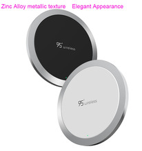 Zinc Alloy Qi wireless charger Fast Quick Chargers Phone Charging For iPhone 7 For Samsung Mobile Phone charger wireless