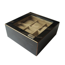 multiple rectangular leather watch display box