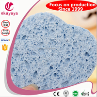 New Exfoliating natural cellulose sponge, compressed cellulose sponge for clean use