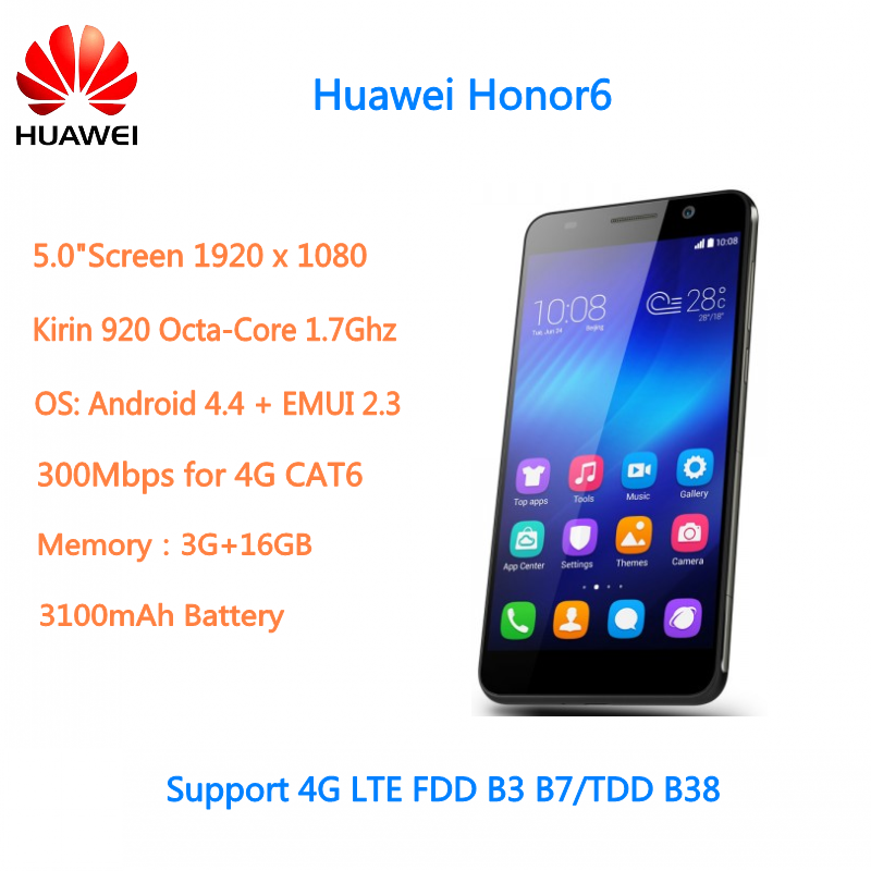 Original 5inch Android 4G LTE Mobile Phone Huawei Honor 6