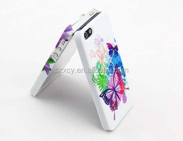 bulk product rubber coating water transfer printing PC mobile phone cover cases for iPhone 5