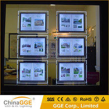 Acrylic LED Light Pocket Real Estate Agent Window LED Display