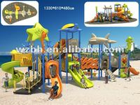 2012 Baihe Outdoor Large Playground Playset Park Plastic Slide BH01001