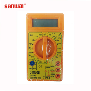 factory best selling mini pocket digital multimeter DT-830B with advanced battery and color box with blister package for options