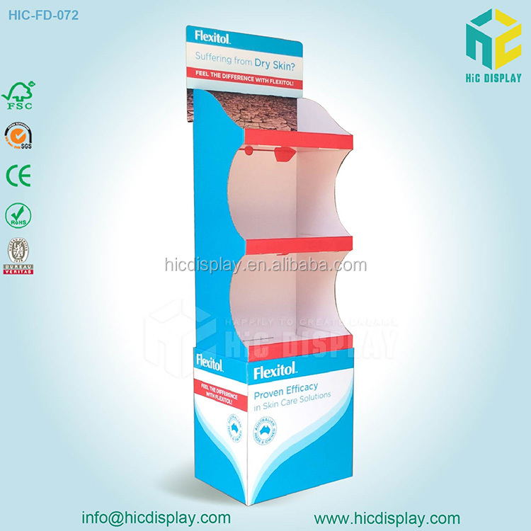 Supermarket Advertising POP Up Cardboard Display Stand, Cosmetic Display Unit