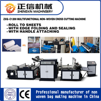 Automaitc Non-woven Cross Cutting Machine with Handle Loop Bonding