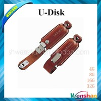 Grade A Quality Leather 16gb USB Flash Disk