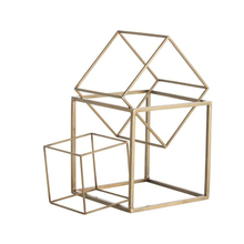 India Best Selling Custom Wholesale Supplier Craft Geometrical metal square sculptures For Home Decoration