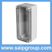 2014new thin rectangular clear plastic electrical boxes 80*180*70mm