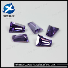 gemstone bead! ! ! purple red ladder square shape czcubic zirconia ceylon synthetic gems stone