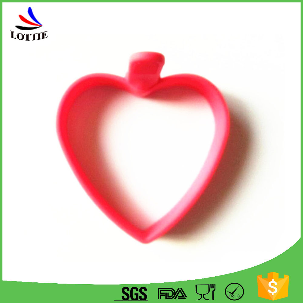 Factory direct non-toxic Food grade heart shape silicone Fried Eggs ring