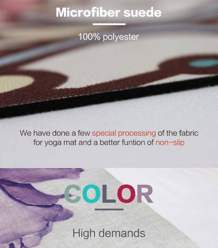 Wholesale eco friendly China OEM natural rubber non-slip yoga mat manufacturer