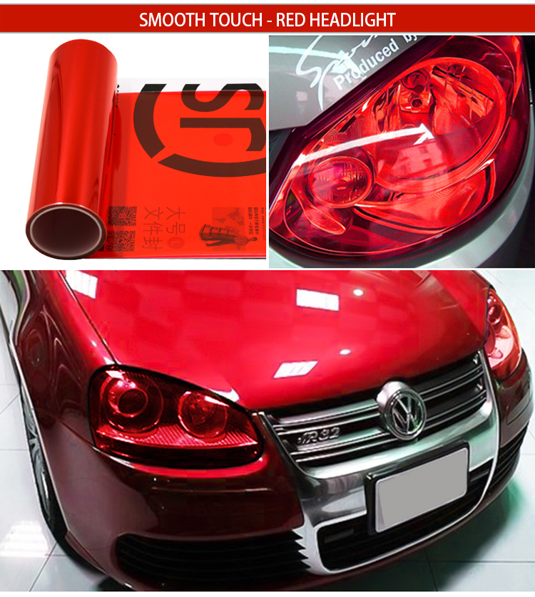 Factory price car styling 30cm*100cm high transparent protective film for car headlight and tail light wrapping film covers