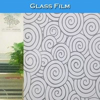 SINO S025 PVC Material Newest Colored Glass Window Decorative Film