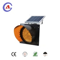 led traffic light factory with 300mm solar warning LED traffic signal hot sale