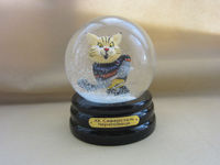 Cartoon figurine resin snow globe