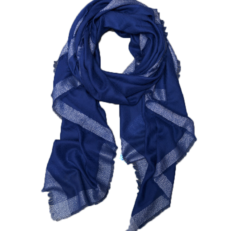 Texted Material passed fashion triangle printed big stripe 100% cashmere scarf in tassels