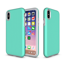 OEM Logo Free Sample Anti-Skid Shockproof Armor TPU PC 2 in 1 Combo Mobile Phone Case Cover For iPhone X 8 7 6 Plus