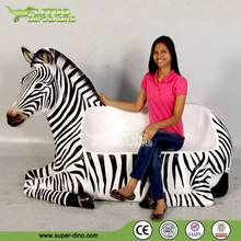 Fiberglass Zebra Chair