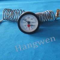 HVAC dial capillary thermometer pressure gauge